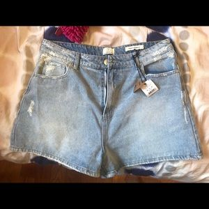 COTTON ON denim shorts with tags high waist